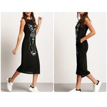 Cat Maxi Dress Women Summer Casual Beach Sexy Boho Long Black Bodycon Bandage Wrap Sundress Elegant Vintage Dresses Plus Size