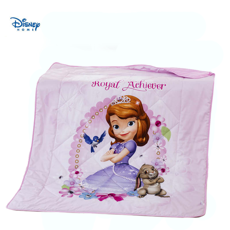 DISNEY princess bedding set sweet sofia print bed cover girl birthday gift summer quilt 100% cotton stitching linen thin blanketDISNEY princess bedding set sweet sofia print bed cover girl birthday gift summer quilt 100% cotton stitching linen thin blanket