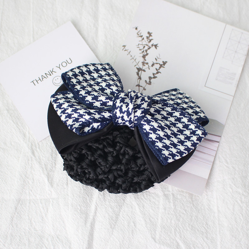 Fashion Women Elegant Ribbon Bowknot Hair Barrettes Hair Bun Quality