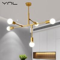 Loft Modern Nordic LED Gold Pendant Light Lights E27 Light Bulb Living Room Bedroom Dinning Room