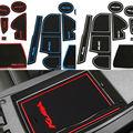 12 Шт./компл. с логотипом в автомобиля наклейки кубок мат Ворота слот pad для Ford Kuga Побег 2013 2014 2015 LHD Латекс Анти без скольжения