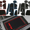 12Pcs/set with logo  in car stickers car cup mat Gate slot pad  for Ford Kuga Escape 2013 2014 2015 LHD Latex Anti non slip