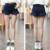 2016 mujeres del verano shorts rinde el vaquero faldas desde paquete nalgas falbala culottes cintura elástica