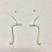 4 unidades/pacote tubos da audição da substituição acessórios tubos & cúpulas para pessoas surdas eartips tubo fino da prótese auditiva da orelha da tubulação fina