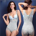 Women's Hip prop chest waist fat burning body sculpting no trace bodysuit shapers Lace Jacquard corset S-3XL