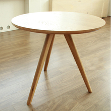 QIYU Round Oak Coffee Table DIA 50CM