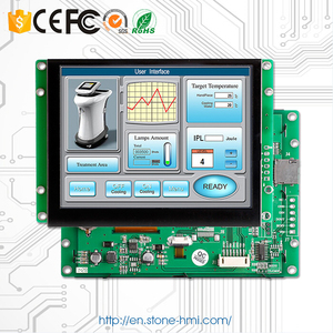 Flexible Touch Screen Displays 10.1 Inch TFT LCD Module With Board And UART Port