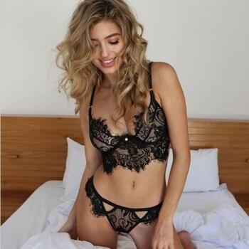 Sexy Hot Lace Transparent Underwear 1