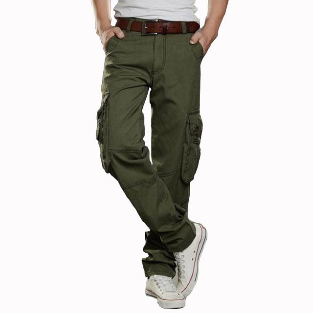 Nuevo Ejército Militar Camuflaje Pantalones Multi Del Bolsillo de los Guardapolvos Bolsas Generales Militares para Hombres Grandes Yardas 29-38 5 colores (sin la correa)