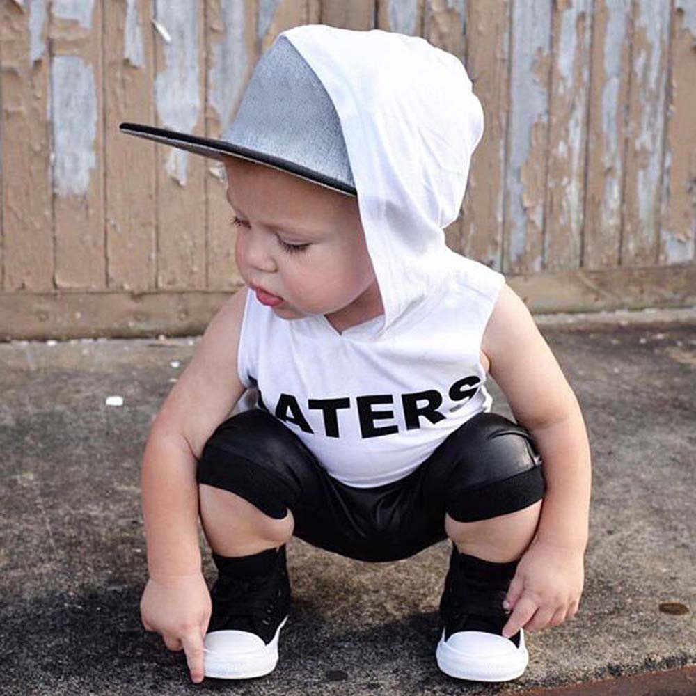 2pcs Toddler Kids Baby Boys Tops Hoodie T-shirt+ Shorts Pants Outfit Clothes Set Letters Sweatsuit Baby girls Boys Sport clothes