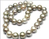 N1252 elegant 10-11mm tahitian grey pearl necklace 18'' % Discount AAA