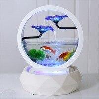 Настольный Особенности водяной лилии фонтан, Водопад Каскад внутренней отделки аквариум увлажнитель тумана дзен медитации fish tank
