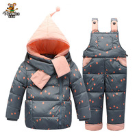 2018 Children Down Clothing Sets 2 PCS Coat + Trousers Winter Kids Down Suits Boys & Girls Hooded Outerwear Suit