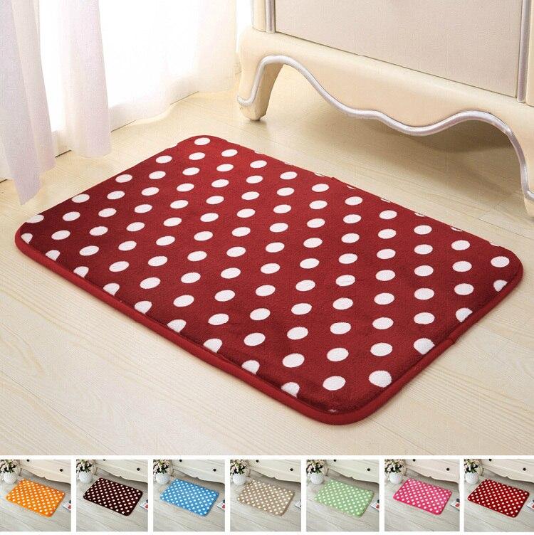 dot tapis de bain haut de gamme eponge mousse absorbant antiderapante douce tapis de sol velours corail chambre tapis de cuisine pad 40 cm 60 cm