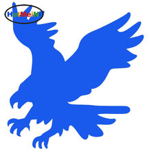 HotMeiNi American Eagle Fly Car Sticker Ambition Hard Work Ahead Pattern for Truck Laptop Bumper Door Vinyl Decal Young At Heart(China)