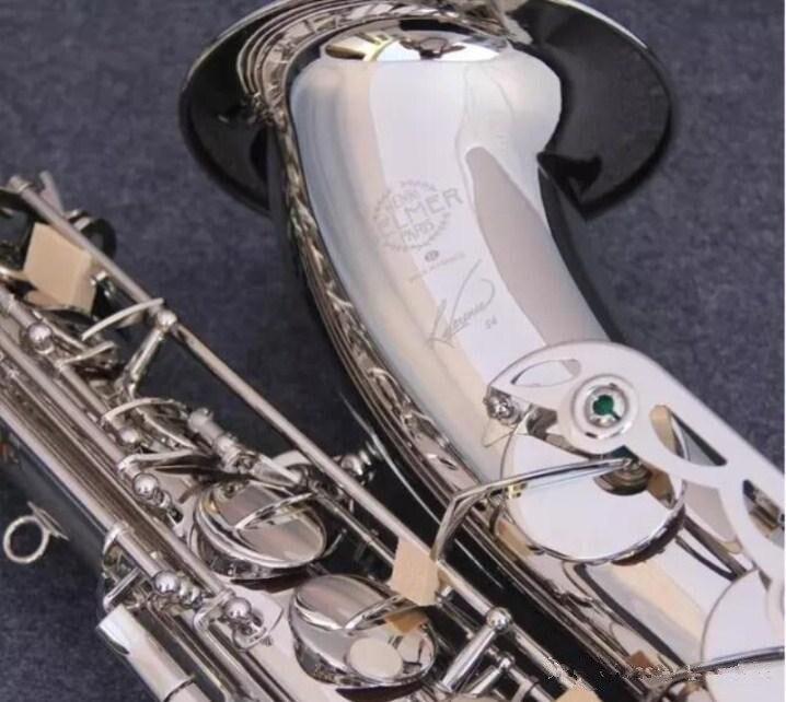 Di alta qualità Selmer STS-R54 B tenore piatto sassofono strumento Musicale Professionale bianco nichel argento sassofono Tenore prestazioni