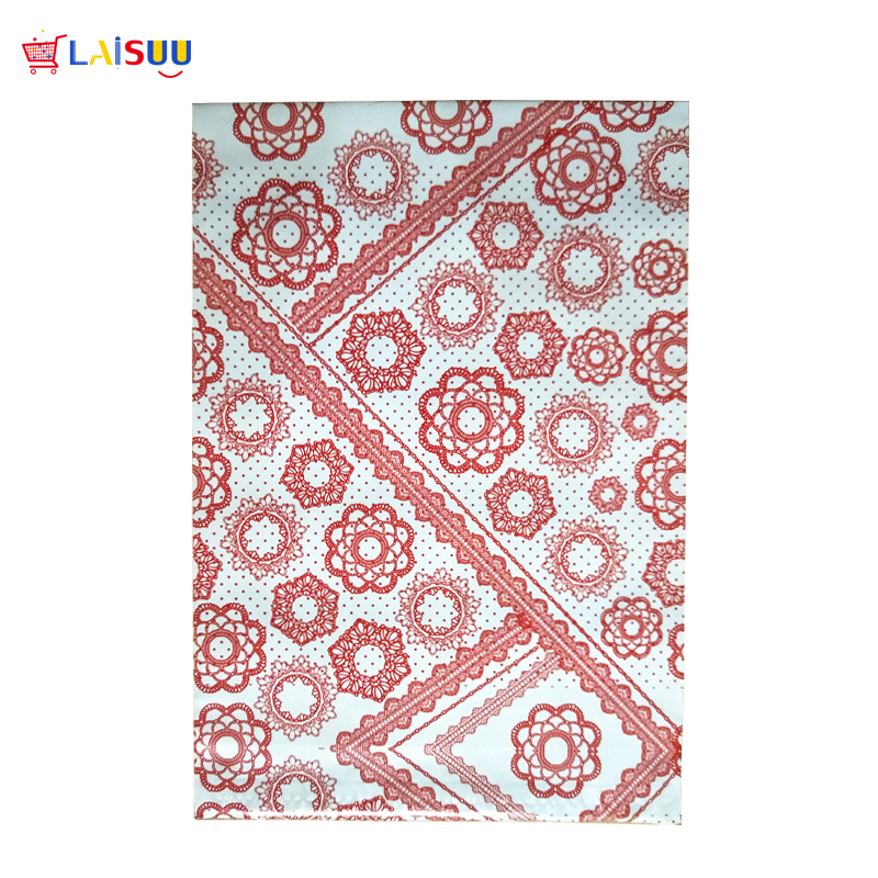 100 Pcs 26x33cm 10x13 Inch Red Flower Pattern Poly Mailers Self Seal Plastic Envelope Bags / Gift Mailing Bags