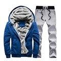 Sportswear dos homens terno 2017 conjuntos de Treino de Marca Homens Casuais Homem Lazer Outwear Conjuntos de Treino Mais sizs M-5XL 70z