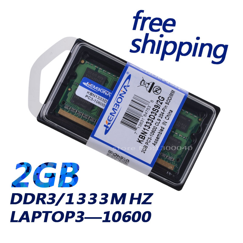 KEMBONA free shipping ram DDR3 Laptop memory DDR3 2GB 1333Mhz with high quality