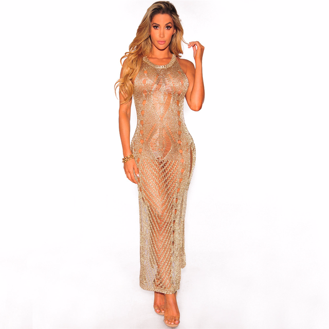 Women in see through dresses agree