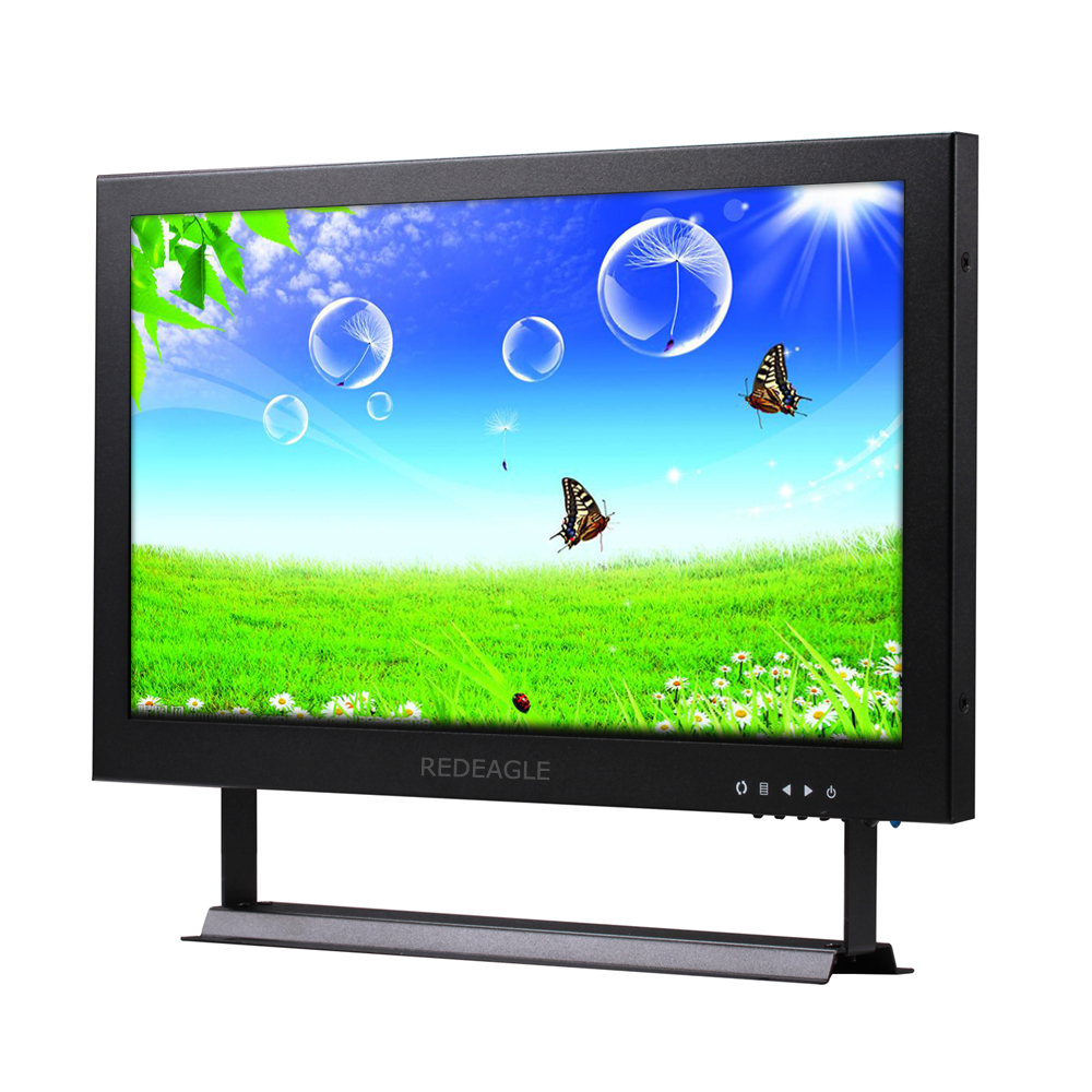 REDEAGLE 13 inch HD TFT LCD Monitor Display VGA BNC Video Audio HDMI Input Portable CCTV Monitors Screen for Home PC VCD DVD цена и фото