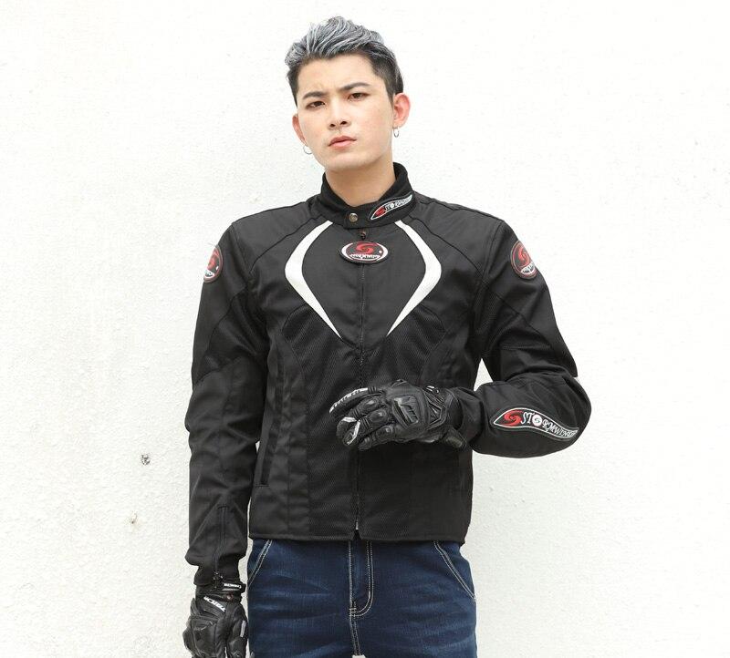 Livraison gratuite Stormwind coupe-vent veste moto équitation costume de protection hommes moto veste 5 pour protections