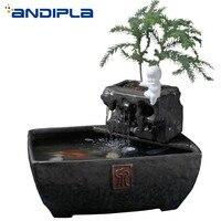 110 V 240 V из мультфильма «Холодное сердце» в китайском стиле Стиль бегущая вода фонтан керамики садок для рыбы Обои для рабочего стола, офисны