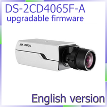 Promo offer free shipping DS-2CD4065F-A english version 6MP Smart IP Box Camera Digital WDR ,Support 128G on-board storage