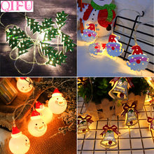 qifu led copper wire string luminous cabin christmas pendant christmas decoration for home 2018 christmas tree