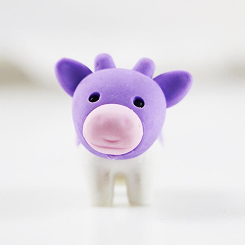 1X Cute Cartoon Eraser Lovely Cows Modelling Eraser Children Stationery Gift Prizes  Kawaii School Supplies Papelaria