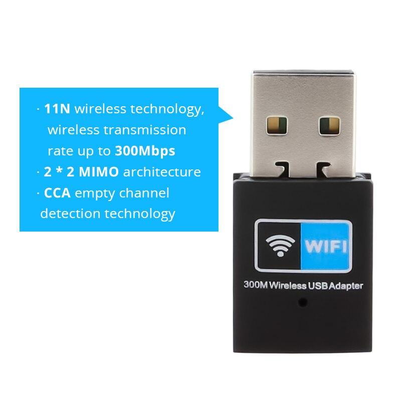 Terow WiFi адаптер 300 Мбит сетевой карты 802.11N Wi-Fi передатчик антенны внешний мини USB маршрутизатор приемник RTL8192