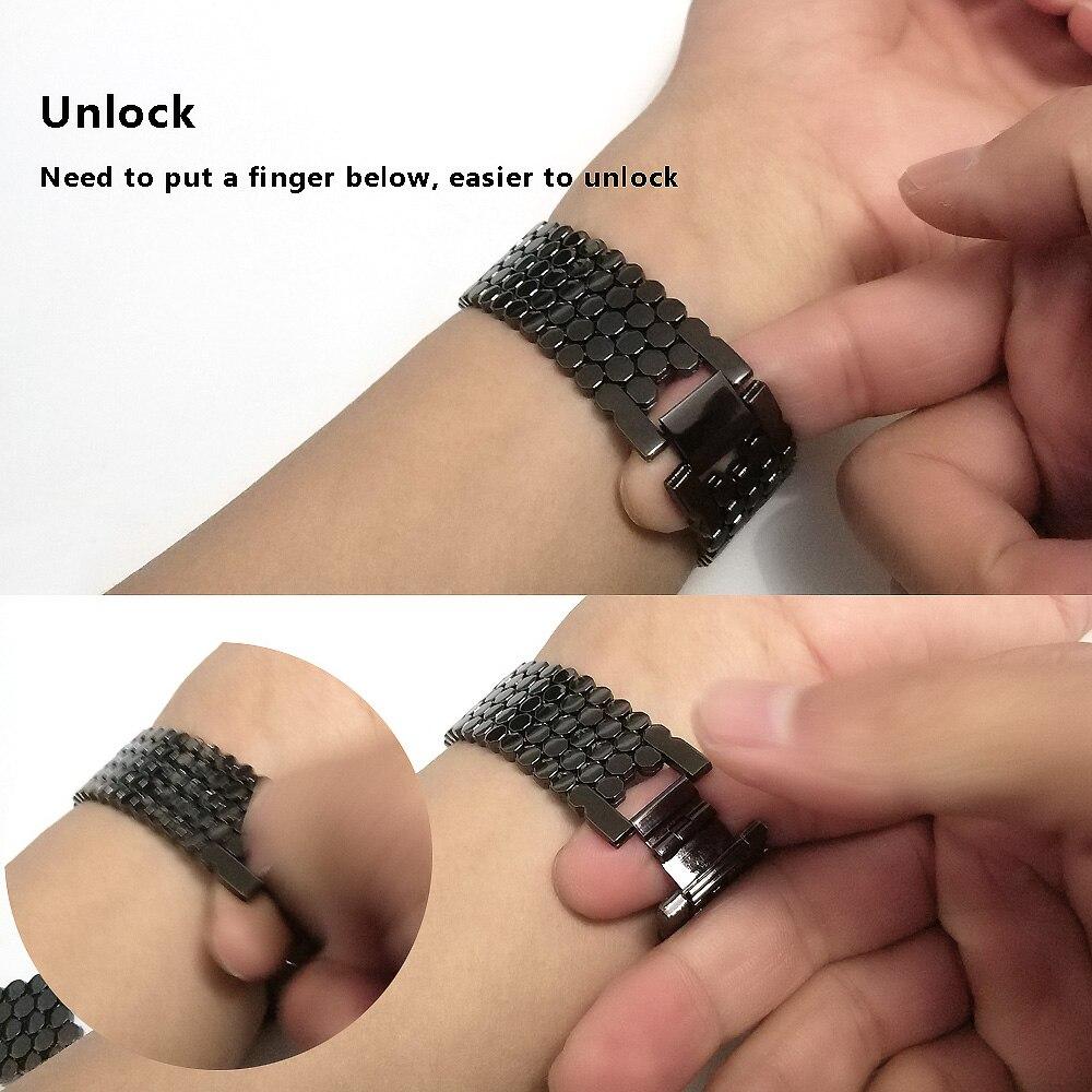 26mm ajuste rápido replacment aço inoxidável pulseira
