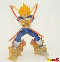 Anime Dragon Ball Z Super Saiyan Vegeta Battle State Final Flash PVC Action Figure Collectible Model Toy 15CM