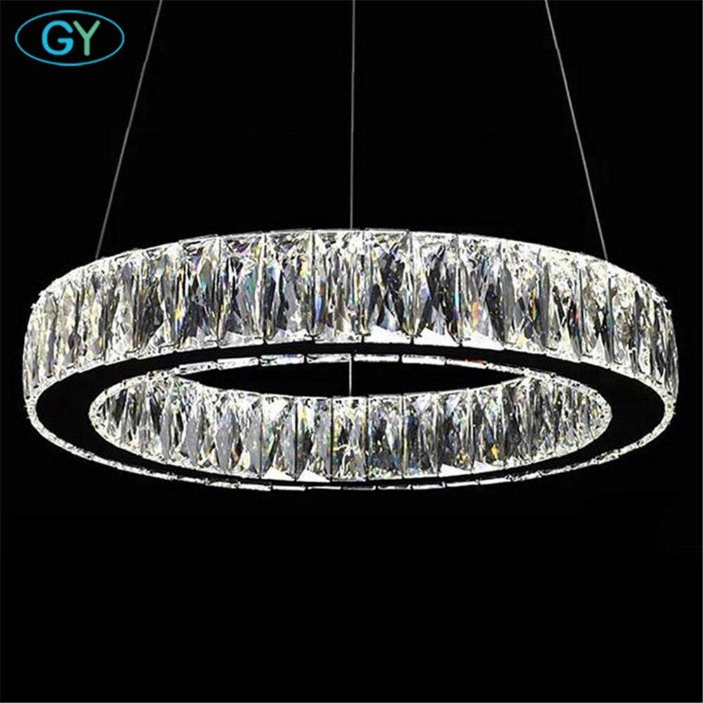 AC110 240V LED Crystal Chandelier Modern Art Deco Lustre LED Adjustable Cord Pendant Lamp Chandeliers Lighting lampadari luster