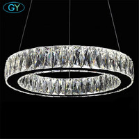 Fashion Modern Chandelier Luxury Crystal Art Deco Lustre LED Adjustable Cord Pendant Lamp Chandeliers Lighting GY