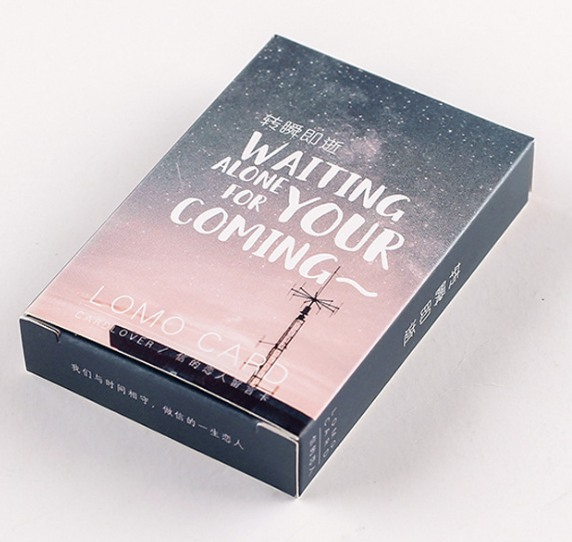 28 Sheets/Set Waiting Alone For Your Coming Lomo Card Mini Paper Postcard Message Card Christmas Gif