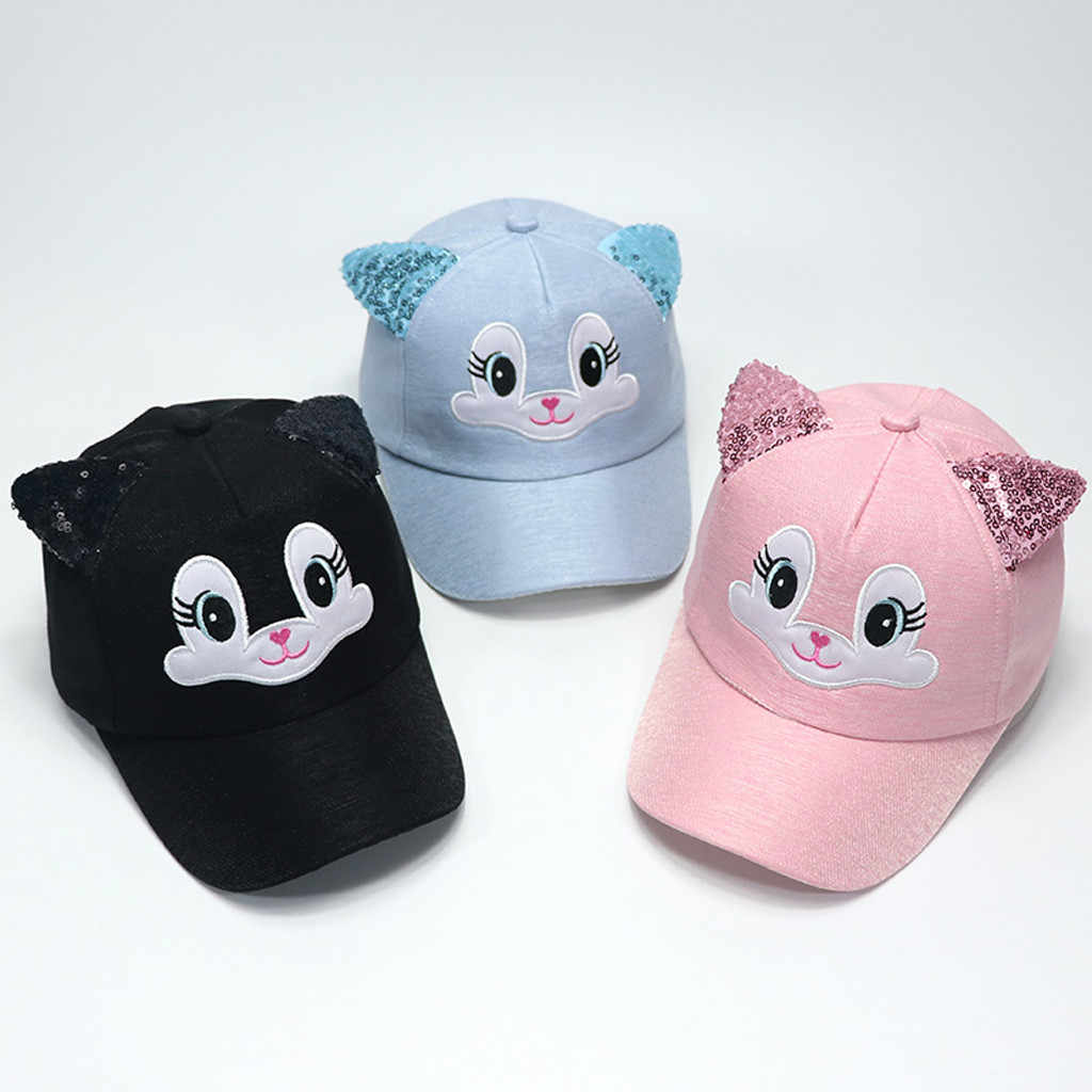 Hukezhu Baby Sun Hat Baby Boy Girls Hats Soft Bunny Cartoon Sunhat Baseball Cap Sun Hat Beret