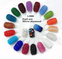 1440pcs/pack 1.3mm 3D Mini Zircon Nail Art Rhinestones DIY Shining Multi-color Nail Art Decoration D1248
