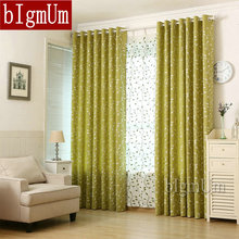 Embroidered Linen font b Curtains b font For Living Room Kitchen Pastoral Style Rustic Leaves font