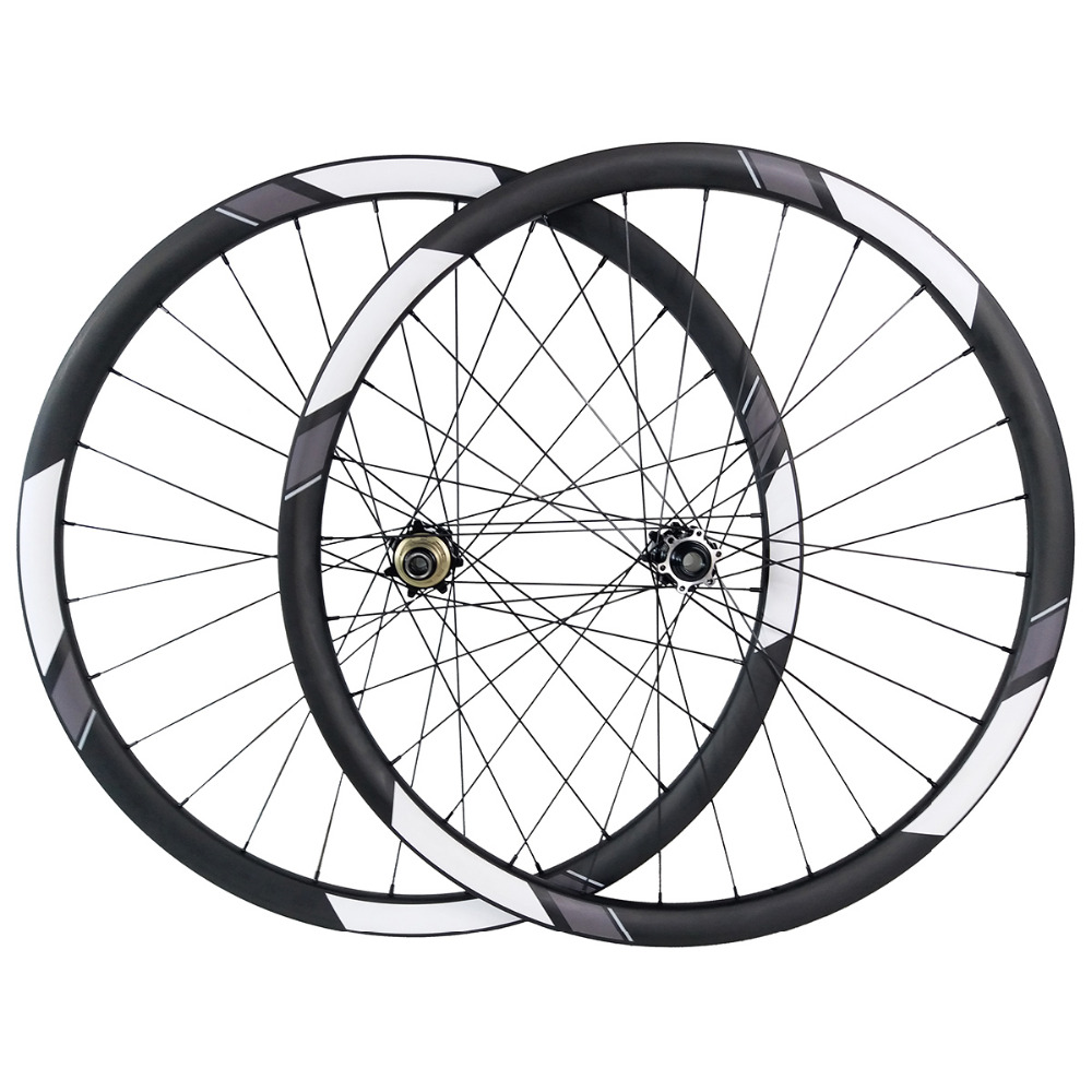 29er MTB 30mm x 30mm XC tubeless wheelset SS35 boost straight pull hubs UD 3K 12K Twill 110mm 148 carbon disc mountain wheels