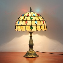 12 Inch Dragonfly Stained Glass Lampshade Tiffany Table Lamp Country Style  Bedside Lamp E27 110 240V