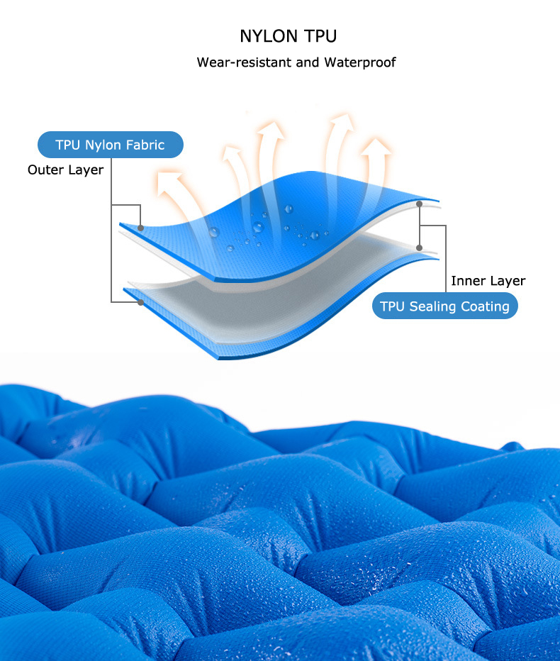 Naturehike 1-2 People Outdoor Camping Inflatable Cushion Moisture-proof Sleeping Mattress