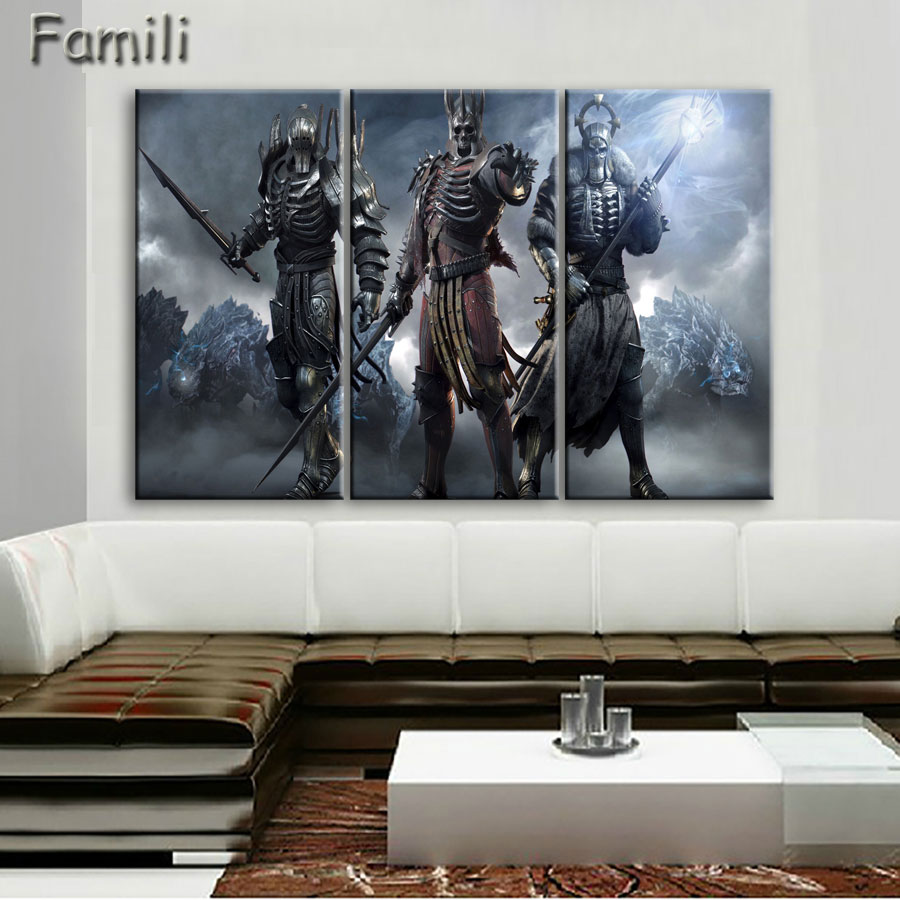 2017 Canvas Painting Painting The Witcher 3 Wild Hunt Video Game Wall Print  High Quality For