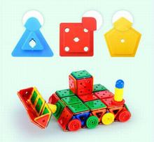 336Pcs/Lot Magnetic Building Blocks Jouet Models 3D DIY Bricks Juguetes Learning Educational Plastic Toys Children Kids Gift
