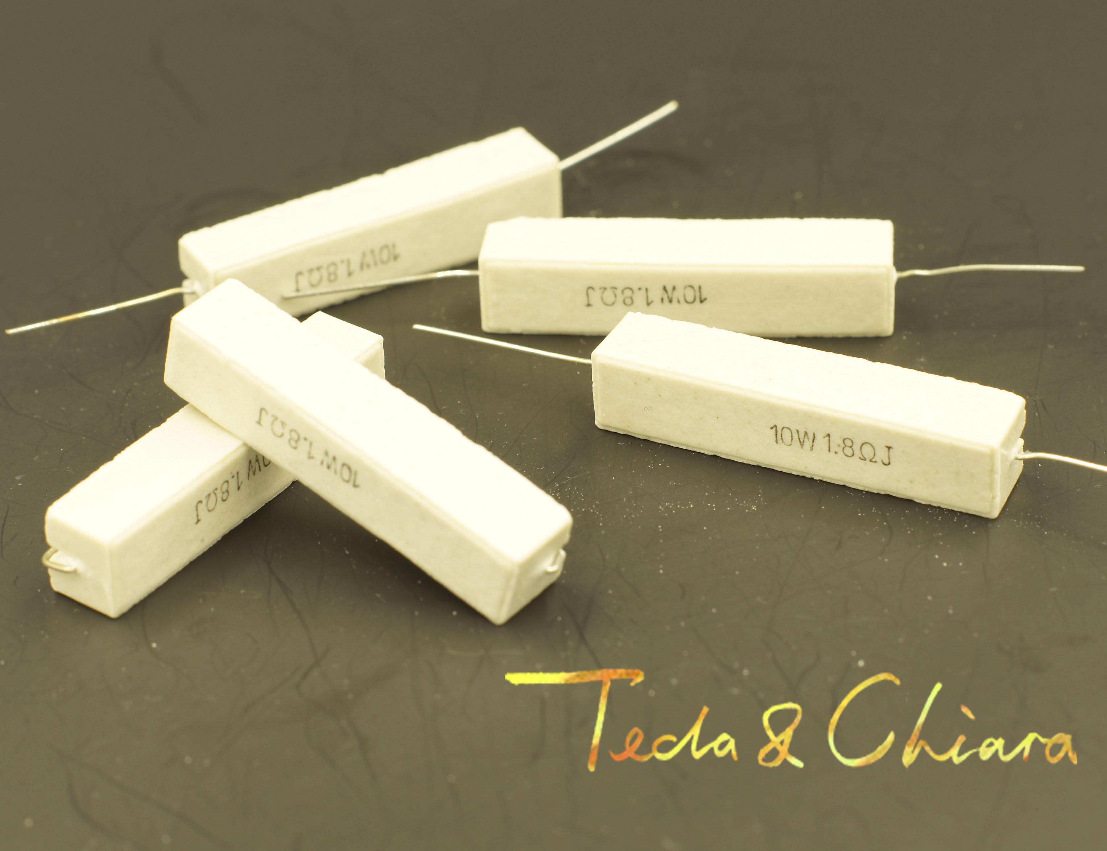10Pcs 10W 15R 18R 20R 22R 15ohm 18ohm 20ohm 22ohm 15 18 20 22 5% Cement Ceramic Power Horizontal Resistor Resistance R Ohm
