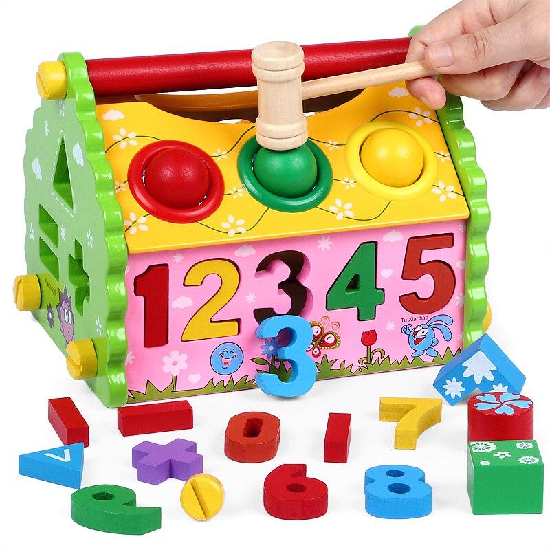 3D bloc jeux en bois blocs de construction bébé jouet bois maison intelligence boîte forme géométrique tri correspondant conseil Montessori enfant