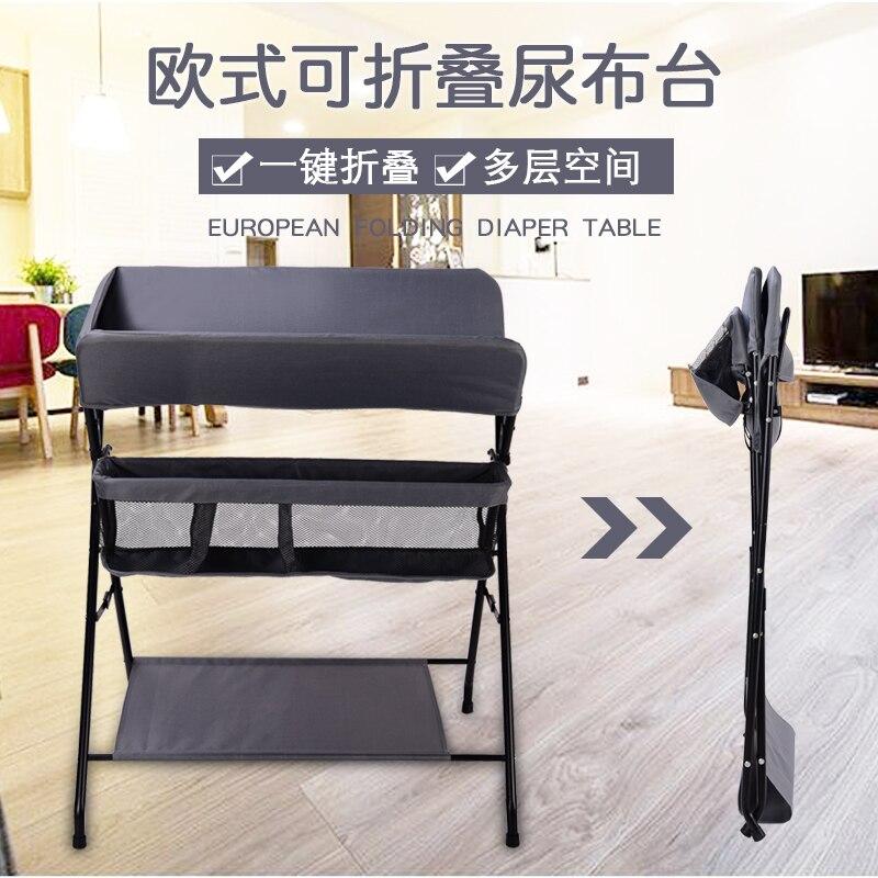 Berceau multi-fonction table d'allaitement table à langer table de bain portable pliable rangement nouveau-né bébé table à langer