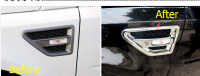 New Style ! Chrome Side Door Air conditioning vent / turning Lamp Cover Trim For Land Rover Freelander 2 LR2 2013 2015