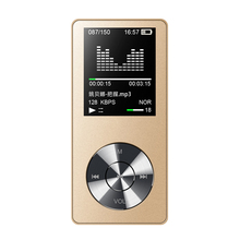 HiFi MP3 Player with Speaker Metal High Quality 8GB Lossless Music Player Supports 128GB Memory Card with FM Radio Recording