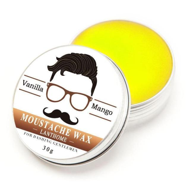 Natural Conditioning Softener Beeswax Moustache Wax 30g Beard Balm Beard Conditioner Leave in Styling Aftershave For Men